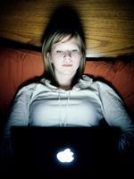Evan Baden: Nikki with iBook, 2006