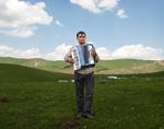 Frank Ward: Accordion Player, High Pastures, Kyrgyzstan, 2012