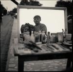 Hiroshi Watanabe: Street Barber, Agra, India, 2000