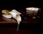 Justine Reyes: Still Life with Banana, Purse and Change