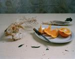Justine Reyes: Still Life with Fish and Orange Slices