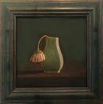 Kate Breakey: Green vase, single Gerbera