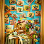 Patty Carroll: Flower Painting