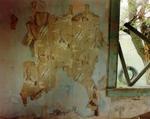 Steve Fitch: Spaceship wallpaper in a bedroom in Yoder, eastern Wyoming, June 9, 1995