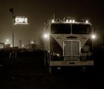 Steve Fitch: Truckstop, Highway 58, Bakersfield, California, 1972