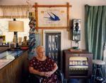 Steve Fitch: Lillian Redman, Blue Swallow Motel, Rt. 66, Tucumcari, New Mexico; July, 1990
